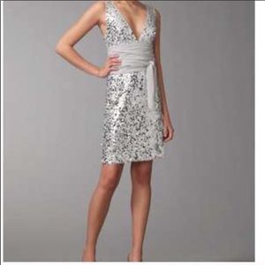 BCBG silver sequin dress